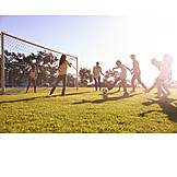 Soccer, Playing, Together
