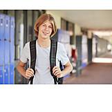 Boy, Teenager, School Children