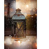 Lantern, Christmas decoration, Winter mood