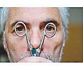 Man, Scissors, Perspective