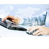 Business, Tastatur, Internet, Weltweit, Global Player