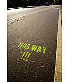 Bicycle lane, This way