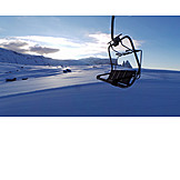 Winter landscape, South tyrol, Cable car