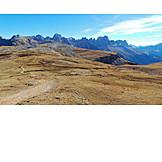 Schlern mountain, South tyrol dolomites, Santnerspitze