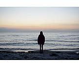 Child, Silhouette, Alone