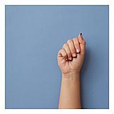 Fist, Nail polish