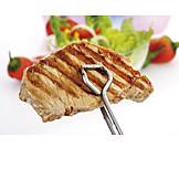 Broiling, Steak, Pork steak