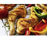 Chicken, Poultry, Chicken thighs