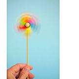 Rainbow, Pinwheel, Turning