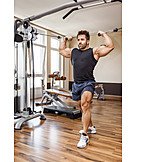 Weightlifting, Muscle, Bodybuilder, Cable winch