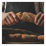 Baguette, Crispy, Bread crust