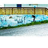 Photographer, Graffiti, Boats