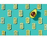 Lemon slice, Avocado