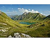 European alps, Mountain lake, Bavaria