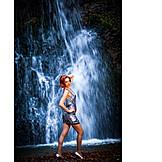 Waterfall, Posing, Minidress