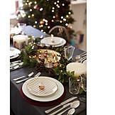 Christmas, Festive, Dining table