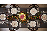 Table cover, Dining table, Christmas dinner