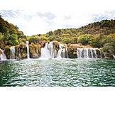 Waterfall, National park krka