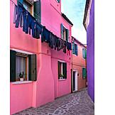House, Clothesline, Burano