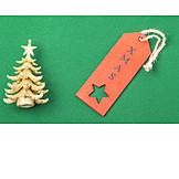Xmas, Christmas tree, Label