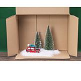 Carton, Christmas decoration