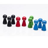 Multi colored, Game figure
