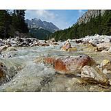Karwendel, Mountain river