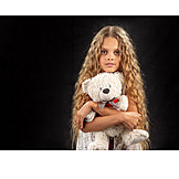 Teenager, Girl, Toy, Teddy, Teddy Bear, Soft Toy, Teddy Bear