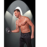Weightlifting, Muscle, Dumbbell training