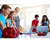 Jugendliche, Freude, Unterricht, Programmieren