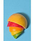 Multi colored, Peel, Citrus fruit