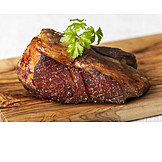 Crust, Meat portion, Pig roast