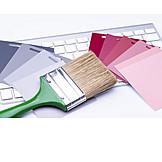 Paintbrush, Color selection, Colour chart