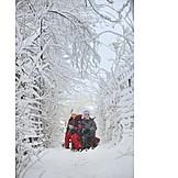 Winter, Schlitten, Kinder