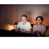 Couple, Gambling, Video game