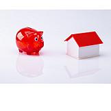 Piggy bank, Real estate