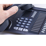 Telephone, Telephone receiver, Support