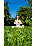 Park, Yoga, Lotus position