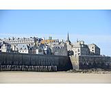 City wall, Saint, Malo