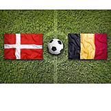 Soccer, Denmark, Belgium