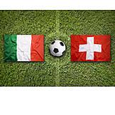 Soccer, Italy, Switzerland