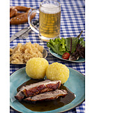 Bavarian cuisine, Roast pork, Potato dumpling