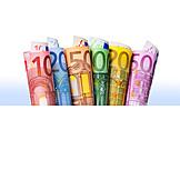 Euro banknote, Banknote, Paper money