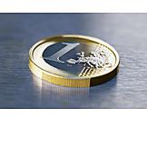 Coin, Euro coin, 1 euro