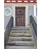 Entrance, Front door, Stairs