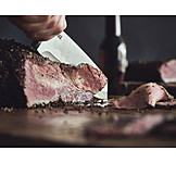 Cutting, Meat slice, Pastrami