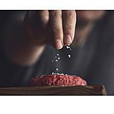 Seasoning, Minced, Meatball, Salting