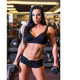Woman, Muscular build, Weightlifting
