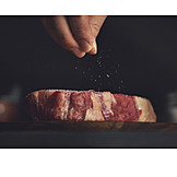 Beef, Raw meat, Salting