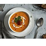 Appetizer, Sweet potato soup
